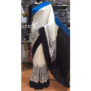 Pochampally double ikkath Cotton sarees 23