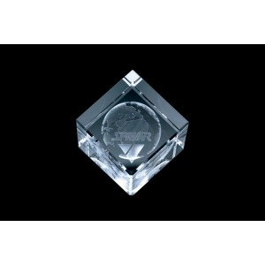 Cubical 3D Crystal Gift 07