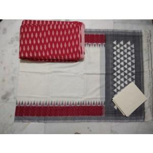 Pochampally Double Ikkat Dress Material PDI46