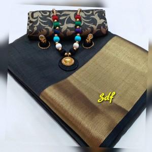 Plain tusser silk combo 10