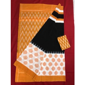 Pochampally double ikkath Cotton sarees 28