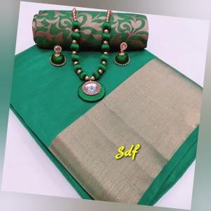 Plain tusser silk combo 06