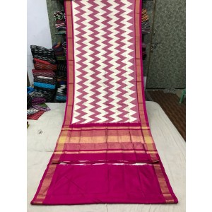 Ikkat silk saree 03