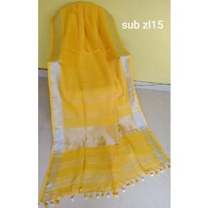 Linen saree 09