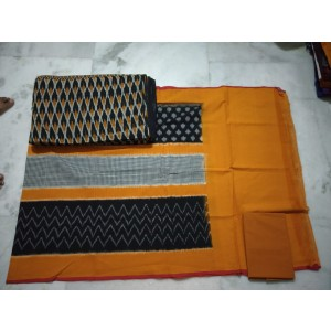 Pochampally Double Ikkat Dress Material PDI25