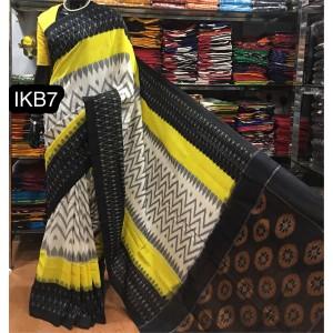 Pochampally double ikkath Cotton sarees37