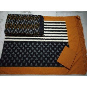 Pochampally Double Ikkat Dress Material PDI26