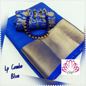 Plain tusser silk combo 26