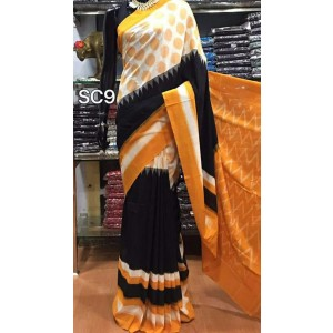 Pochampally double ikkath Cotton sarees 25