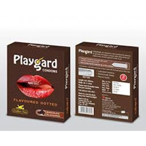PLAY GARD FLAVOURED DOTTED CHOCOLATE CONDOM 3 UNITS