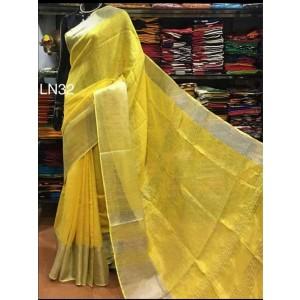 Linen sarees 01