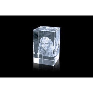 Cubical 3D Crystal Gift 02