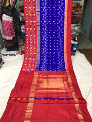 Ikkat silk saree 24
