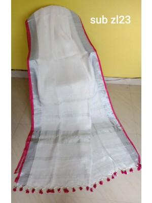 Linen saree 16