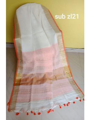 Linen saree 15